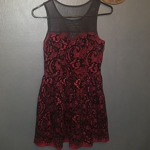 Velvet and Lace Rose Dress